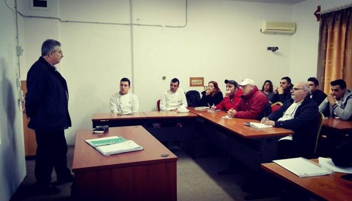 Εκπαιδεύτηκε από τον Α. Στεφανάκη προσωπικό του Ι.Ι.Ε.Κ. KAPPA STUDIES