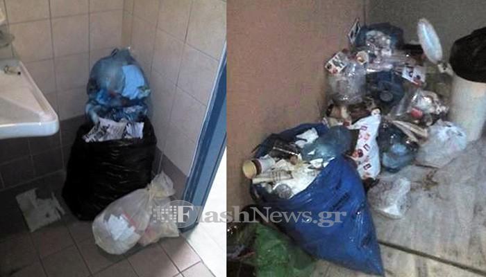«Αστυνομικός» σκουπιδότοπος δίπλα στον καταυλισμό των Ρομά