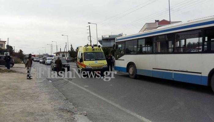 Νεκρός o άνδρας που παρασύρθηκε από λεωφορείο στο Ηράκλειο (φωτό)