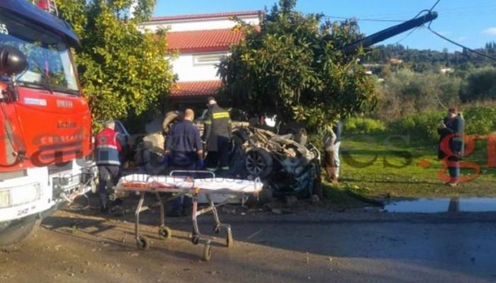 Νεκρός 25χρονος σε τροχαίο στην Παλαιά Εθνική Πατρών-Πύργου