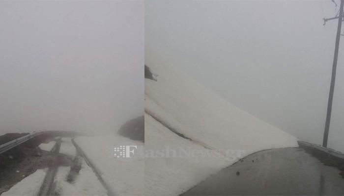 Προσοχή! Κλειστός ο δρόμος από Ασκύφου προς Ασφένδου λόγω χιονιού (φωτο)