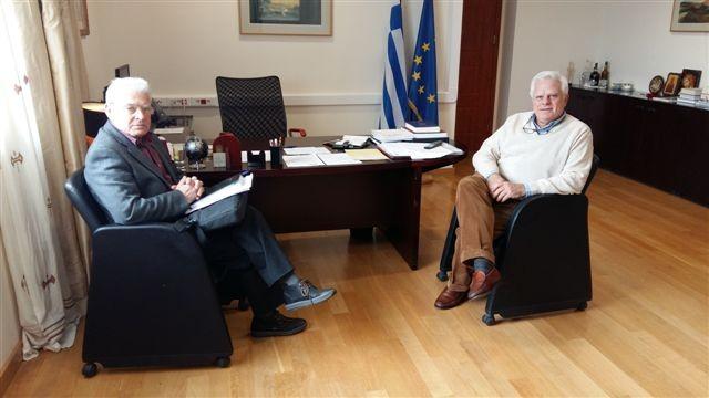 Ο Μανόλης Θραψανιώτης συναντήθηκε με τον πρύτανη του Πανεπιστημίου Κρήτης