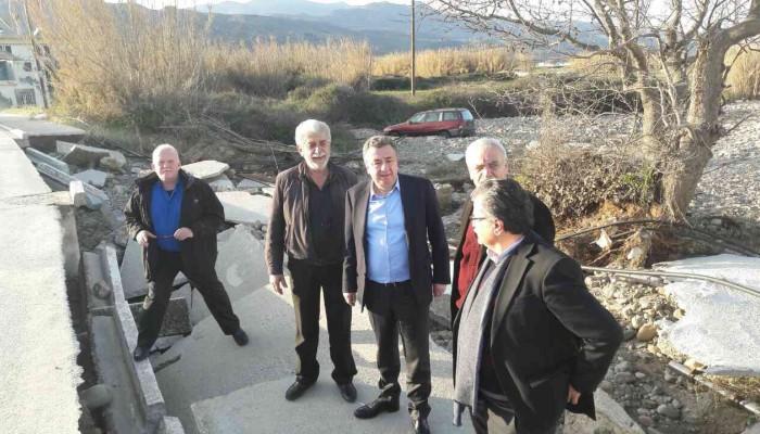 Στις καταστροφές του Πλατανιά βρέθηκε ο Σταύρος Αρναουτάκης