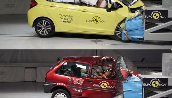 Το crash test μοντέλου του 1997 κι ενός σύγχρονου αυτοκινήτου