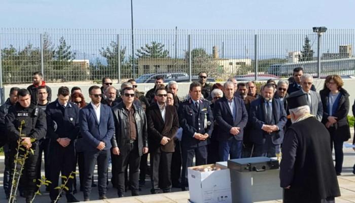 Τρισάγιο στη μνήμη των νεκρών Αστυνομικών στο Ηράκλειο