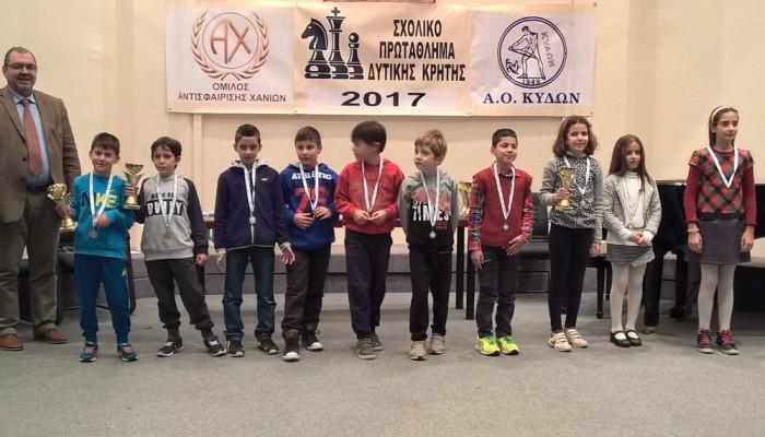 Σκάκι: Πρωτιές για τον ΟΑΧ στο Σχολικό πρωτάθλημα Κρήτης
