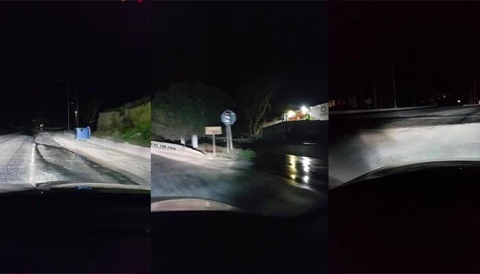 Προσοχή! Νερά σε δρόμο προκαλούν ατυχήματα