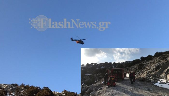 Νεκρή η γυναίκα που έπεσε σε γκρεμό στα Λευκά Όρη (φωτό - βίντεο)