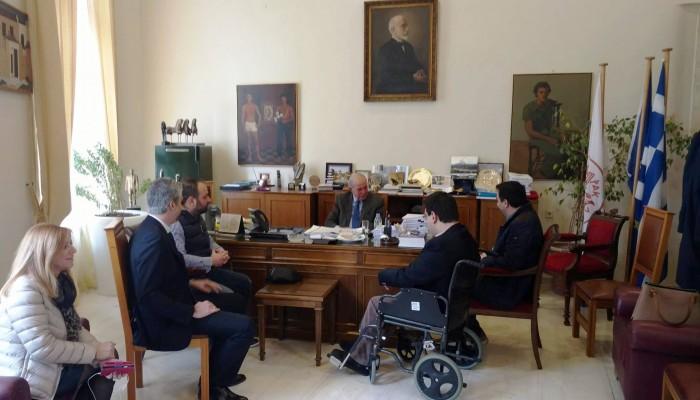 Στον Δήμαρχο Ηρακλείου με τη νέα διοίκηση του Οικονομικού Επιμελητηρίου