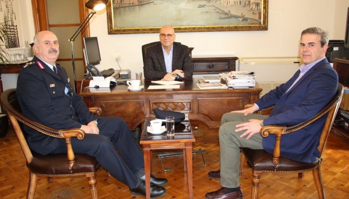 Τον δήμαρχο Χανίων επισκέφτηκε ο Περιφερειακός Αστυνομικός Διευθυντής