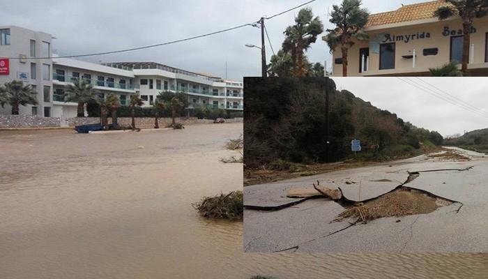 Στη Βουλή οι καταστροφές απο πλημμύρες στα Χανιά - Τι είπε ο Σκουρλέτης