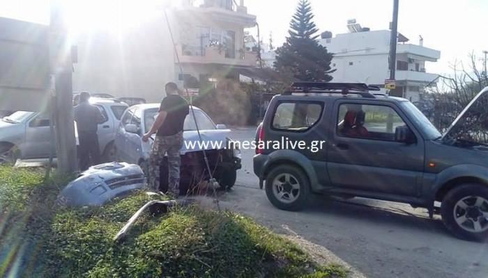 Καραμπόλα τριών αυτοκινήτων στη Μεσσαρά