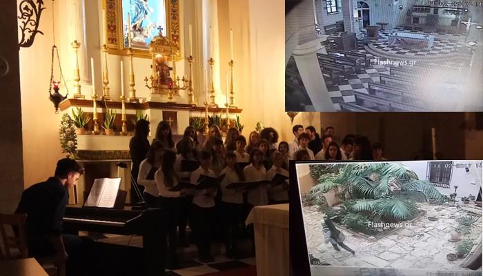 Έκλεψε κιθάρα του Μουσικού Σχολείου στην Καθολική εκκλησία Χανίων (βίντεο)