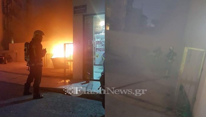 Αναστάτωση από πυρκαγιά στο κέντρο του Ηρακλείου (φωτο – βίντεο)