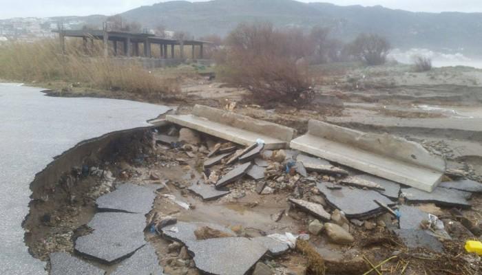 Απογοητευτικές  απαντήσεις  Υπουργείων για τις πλημμύρες στα Χανιά