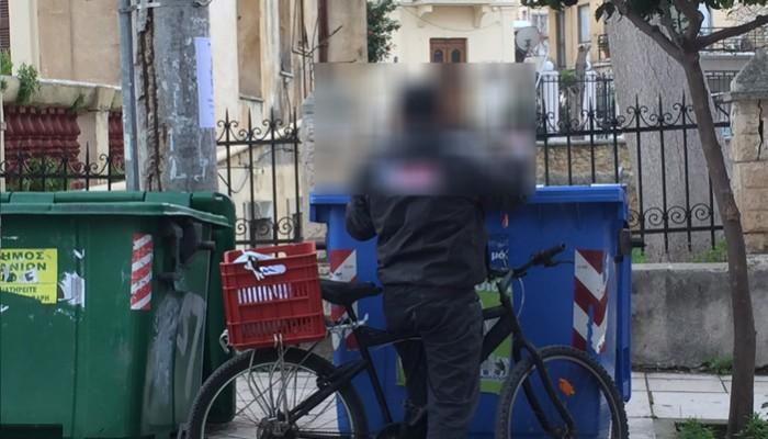 Χανιά:Για κάποιους το σαρακοστιανό τραπέζι βρίσκεται στον κάδο απορριμμάτων