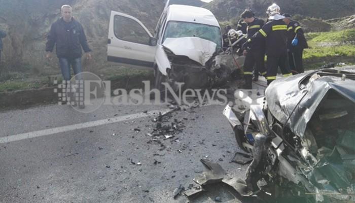 Νεκρή γυναίκα σε τροχαίο δυστύχημα στην εθνική οδό στην Κίσσαμο (φωτο)