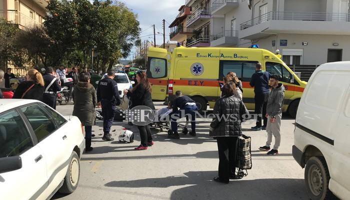 Τρεις τραυματίες σε δύο τροχαία ατυχήματα στα Χανιά (φωτο)