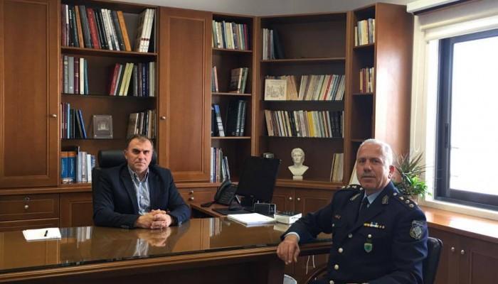 Συνάντηση του Δημάρχου Ιεράπετρας με τον νέο Αστυνομικό Διευθυντή Λασιθίου
