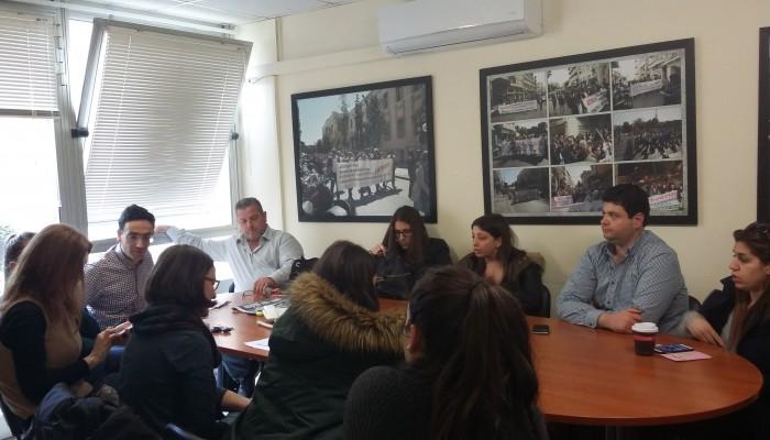 Σύσκεψη του σωματείου εργαζομένων ΠΑΓΝΗ με τους εργαζόμενους με μπλοκάκια