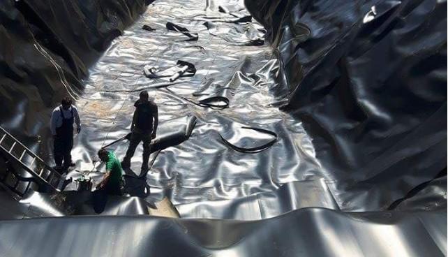 Αντικαταστάθηκε η μεμβράνη της λιμνοδεξαμενής στα Ασφένδου
