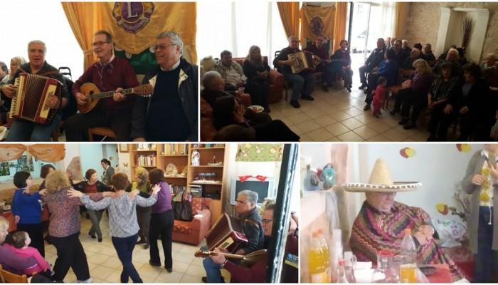 Η Λέσχη Lions Ηρακλείου γιόρτασε τις Απόκριες με τους ηλικιωμένους