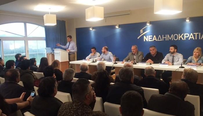 Συνεδρίαση διευρυμένης ΝΟΔΕ Ηρακλείου ενόψει της επίσκεψης Κ. Μητσοτάκη