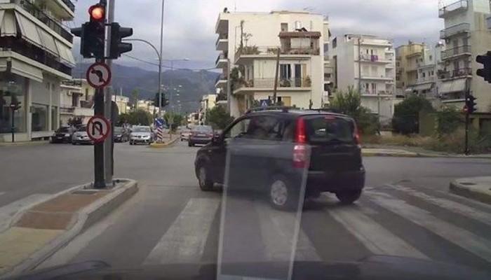 Oδηγός καταγράφει με κάμερα τα «εγκλήματα» στους ελληνικούς δρόμους
