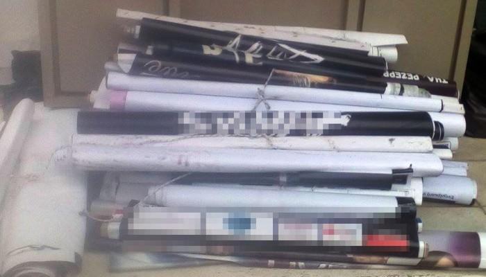Ξηλώνονται όλα τα παράνομα τοποθετημένα αεροπανό και αφίσες στο Ηράκλειο