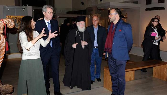 Ο Αμερικανός πρέσβης στο Μουσείο Χριστιανικής Τέχνης Κρήτης