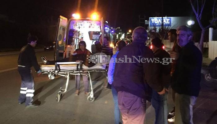 Τροχαίο με τραυματισμό γυναίκας στον κόμβο του Κλαδισού στα Χανιά (φωτο)