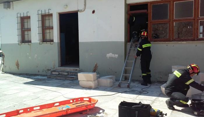 Άσκηση της Πυροσβεστικής σε συνεργασία με τον ναύσταθμο Κρήτης
