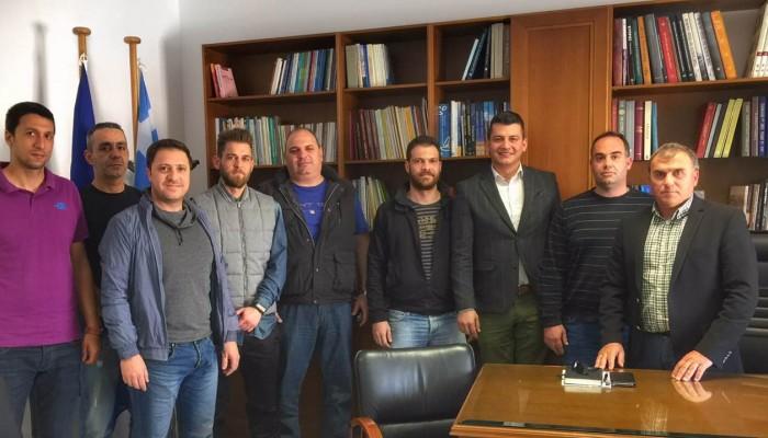 Τον δήμαρχο Ιεράπετρας επισκέφθηκε η Ένωση Αστυνομικών Υπαλ. Λασιθίου