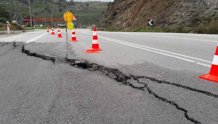 Κίνδυνος - θάνατος ο δρόμος λίγα χιλιόμετρα έξω από την Κίσσαμο
