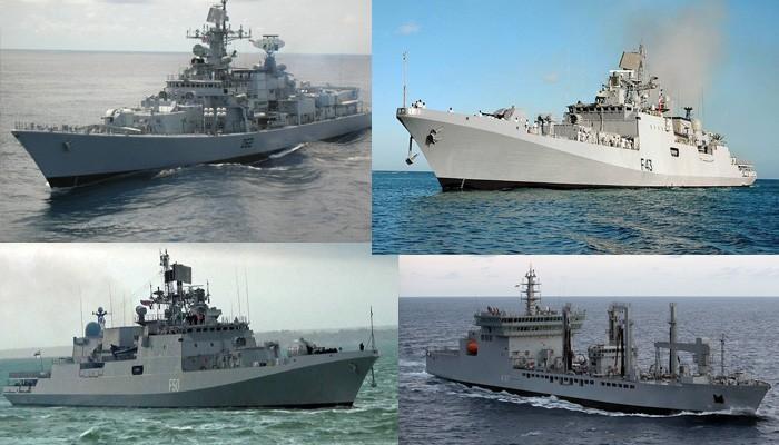 Πολεμικά πλοία της Ινδίας κατέπλευσαν στην Σούδα στα Χανιά (φωτο)