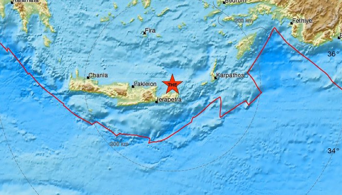 Σεισμός 3,4 Ρίχτερ κοντά στην Σητεία