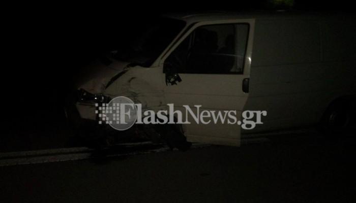 Σύγκρουση τριών αυτοκινήτων στην Κίσσαμο στο ύψος των Νωπηγείων (φωτό)