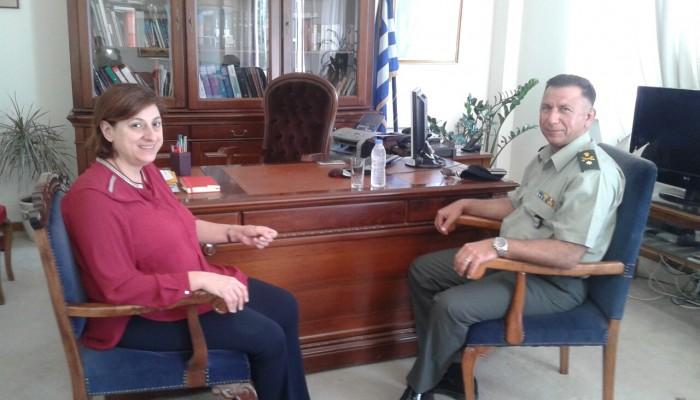 Στην Αντιπεριφερειάρχη Λασιθίου ο νέος διοικητής της 5ης Ταξιαρχίας Πεζικού
