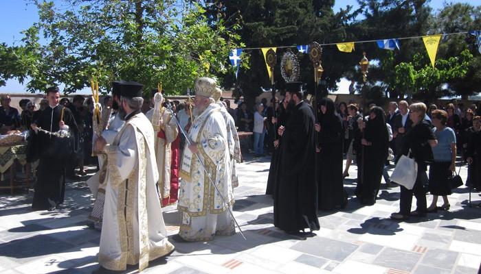 Η πανήγυρις της Ιεράς Μονής Αγ. Ειρήνης Ρεθύμνης (φωτο)