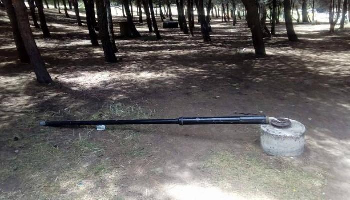 Βανδαλισμοί στο Πάρκο των Αγίων Αποστόλων (φωτο)