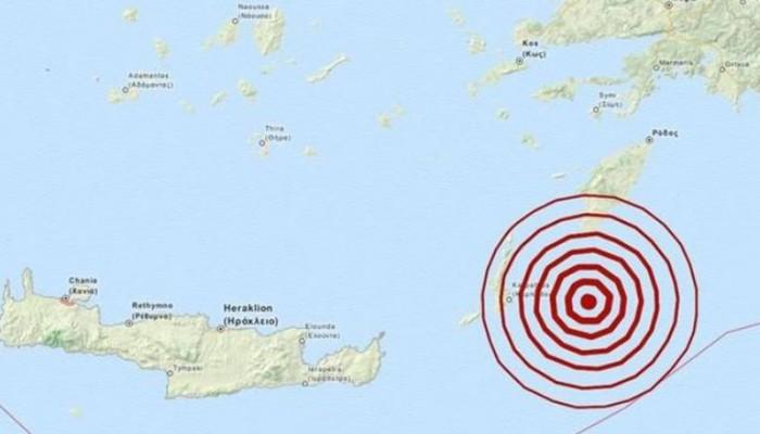 Ισχυρός σεισμός στην Ρόδο έγινε αισθητός στην Ανατολική Κρήτη