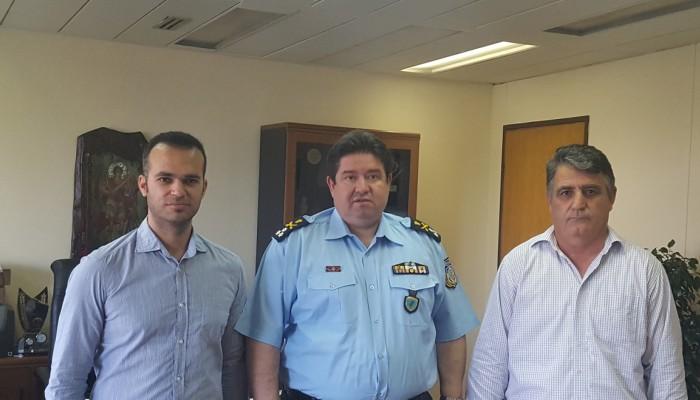 Στον Προϊστάμενο Επιτελείου ΕΛ.ΑΣ αστυνομικοί του Ηρακλείου