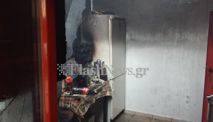 Φωτιά σε σπίτι στο Αρώνι Ακρωτηρίου (φωτο)
