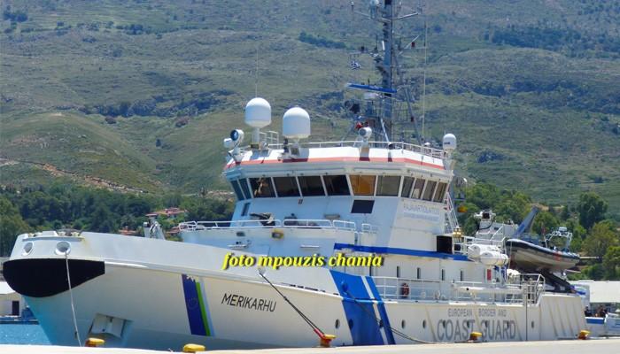 Ο «θαλασσόλυκος» της FRONTEX στο λιμάνι της Σούδας