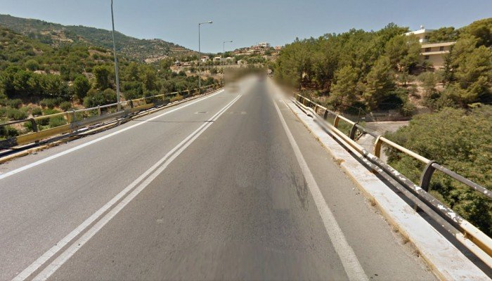 Αυτοκίνητο έπεσε από τη γέφυρα της Παντάνασσας στο Ηράκλειο
