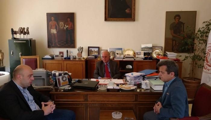 Συνάντηση Βασίλη Λαμπρινού με τον Γ.Γ Αθλητισμού