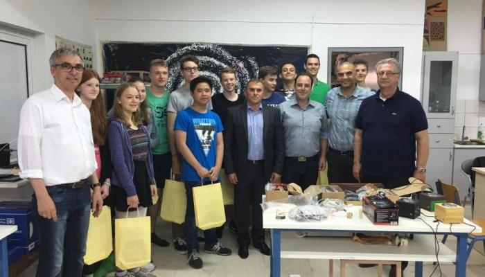 Με μαθητές του προγράμματος Junior Engineer Academy o δήμαρχος Ιεράπετρας