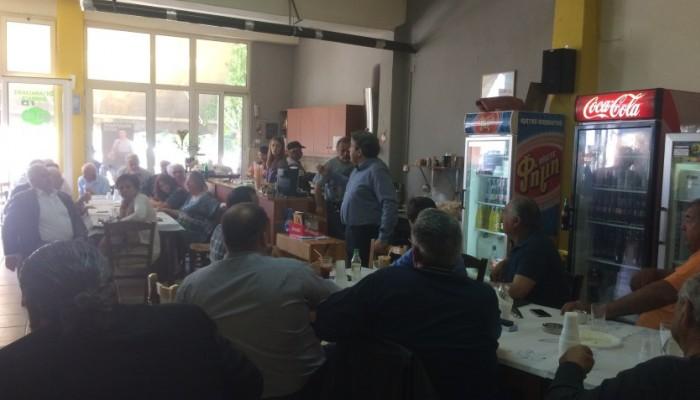 Ηγουμενίδης: Επίσκεψη στην Γαρίπα του Δήμου Μινώα Πεδιάδος