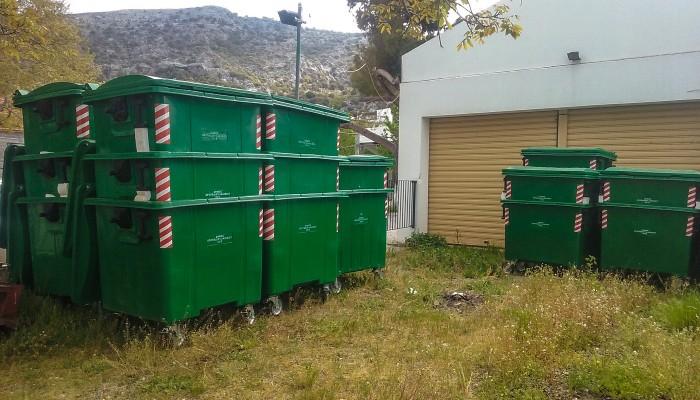 Νέοι κάδοι απορριμμάτων στον Δήμο Οροπεδίου Λασιθίου