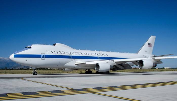 Στα Χανιά το Boeing 747 του Εθνικού Κέντρου Επιχειρήσεων των ΗΠΑ (φωτο)